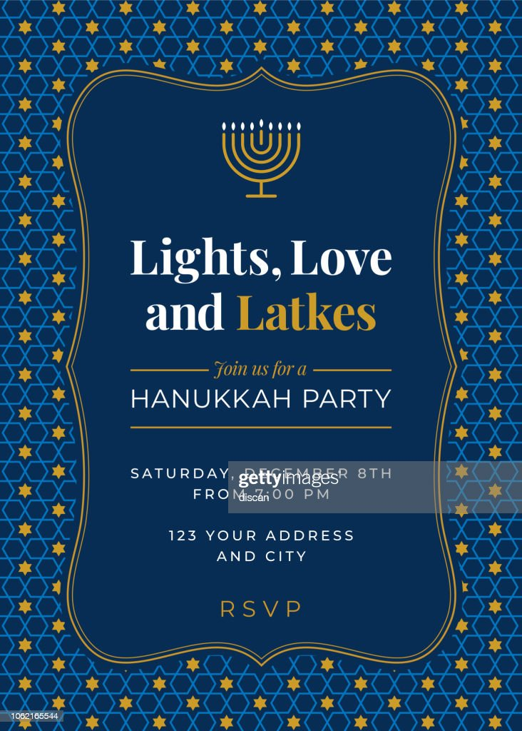 Hanukkah Party invitation - Illustration : stock illustration