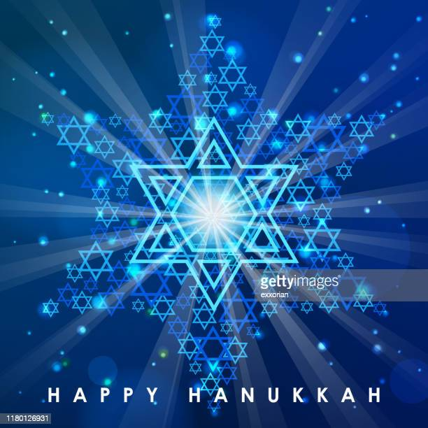 hanukkah star of david - nuclear fallout stock illustrations