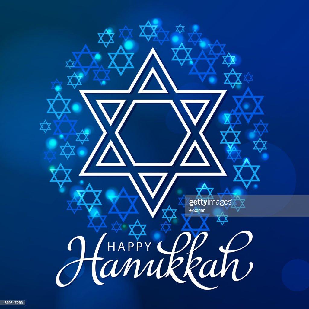 Hanukkah estrela de Davi : Ilustração