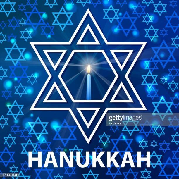 hanukkah star of david - hanukkah stock illustrations, clip art, cartoons, & icons
