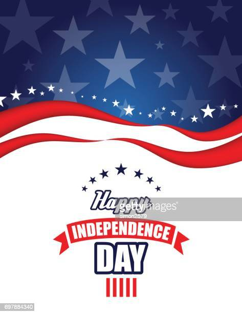 happy 4th of july independence day background - independence stock illustrations