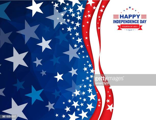 happy 4th of july independence day background - fourth of july stock illustrations