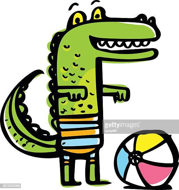 Happy Alligator Doodle