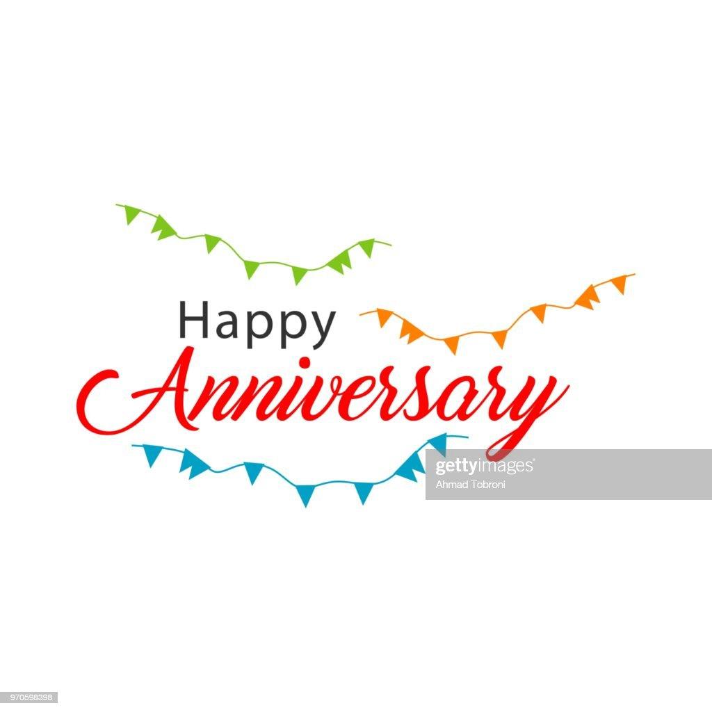 Happy Anniversary Vector Template Design