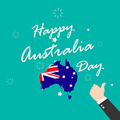 Happy Australia Day. Territory and flag of Australia. Vector illustration