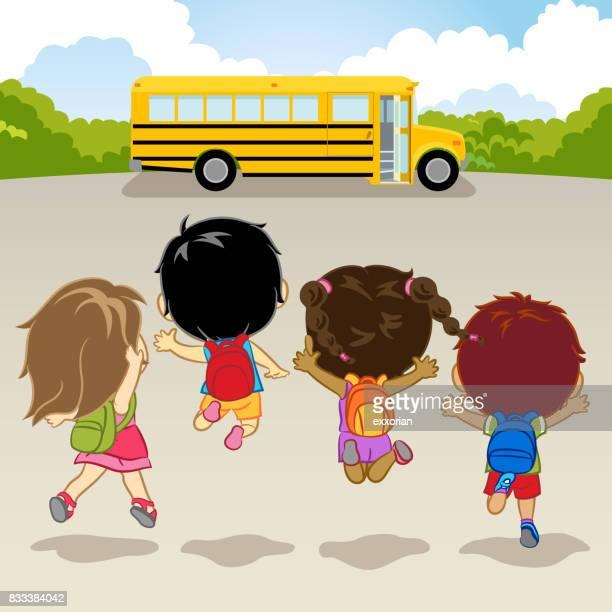 illustrations, cliparts, dessins animés et icônes de heureuse rentrée scolaire - première rentrée scolaire