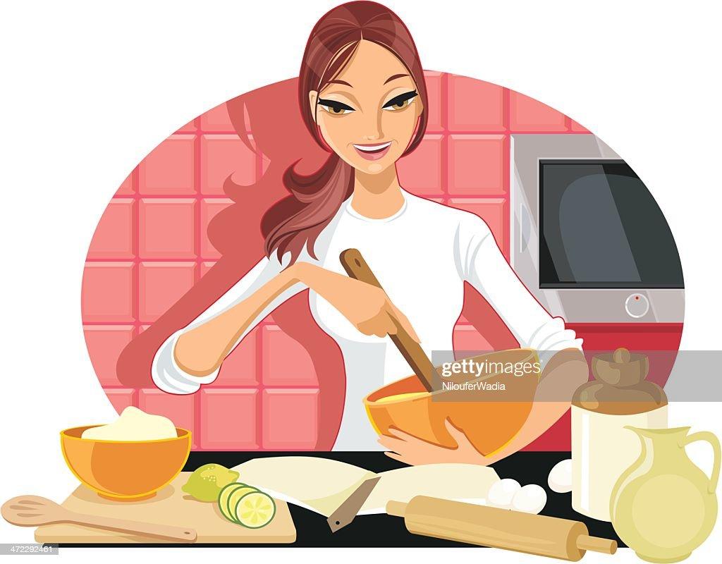 Happy Baker : stock illustration