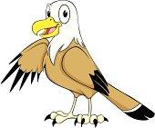 Happy Bald Eagle Cartoon
