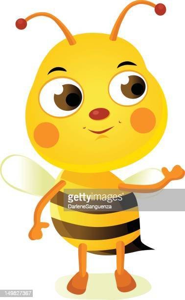 happy bee mascot - bumblebee stock illustrations, clip art, cartoons, & icons