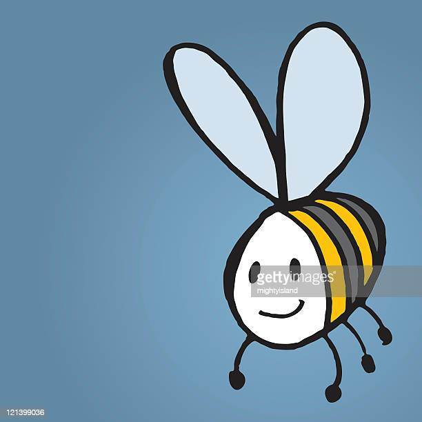 happy bee - bumblebee stock illustrations, clip art, cartoons, & icons