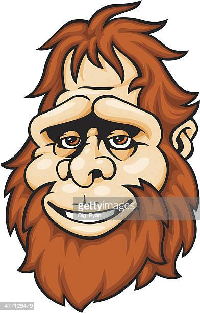 happy bigfoot - bigfoot stock illustrations