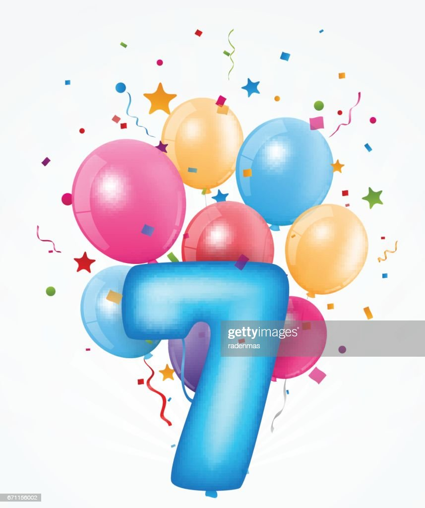 Happy Birthday Balloon With Number Vector Art Getty Images
