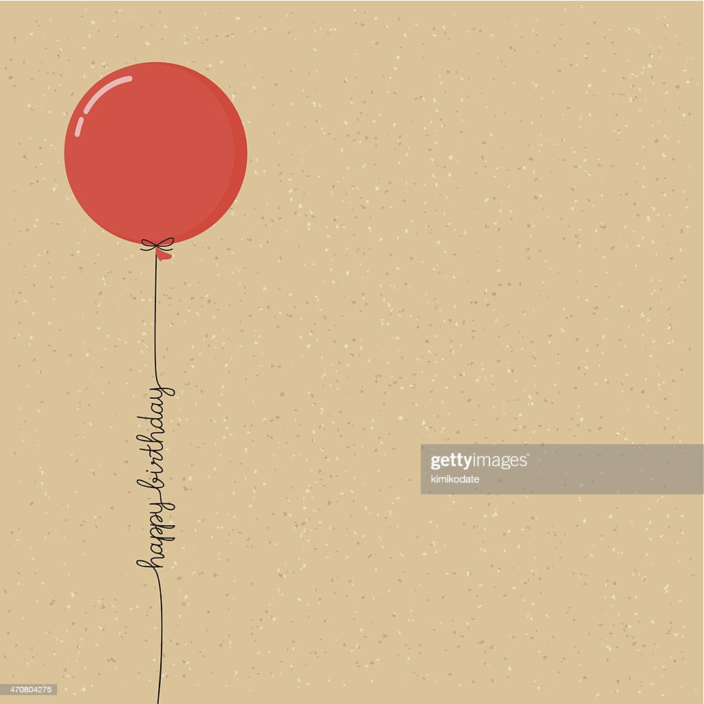 Happy birthday balloon with script