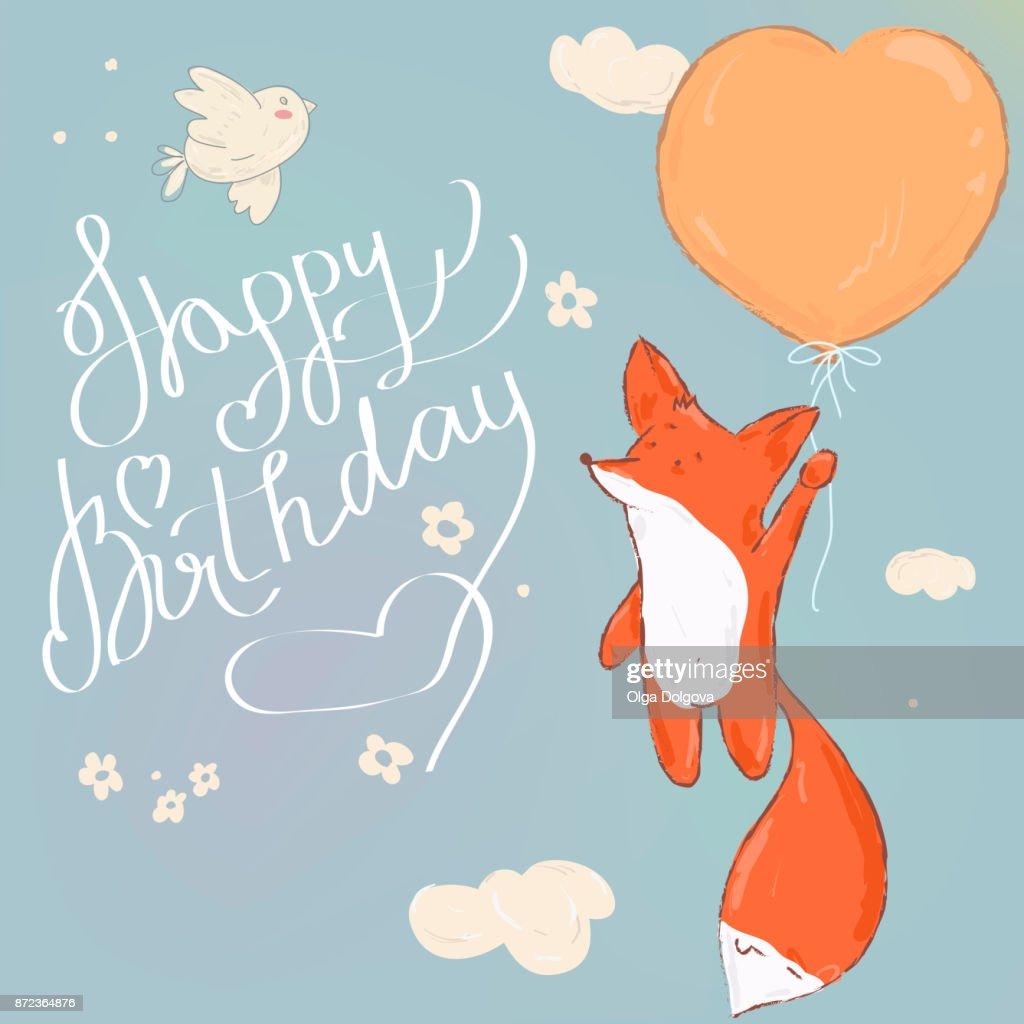 Herzlichen Glückwunsch Zum Geburtstag Schöne Grußkarte