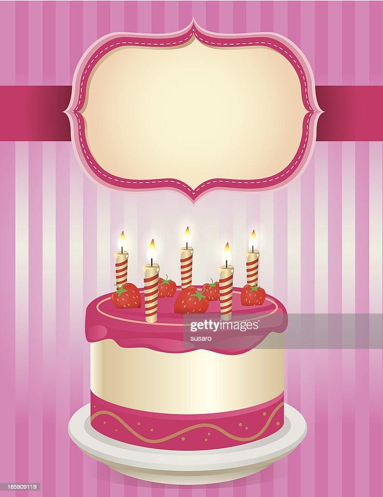 Happy Birthday Cake Vector Art Getty Images