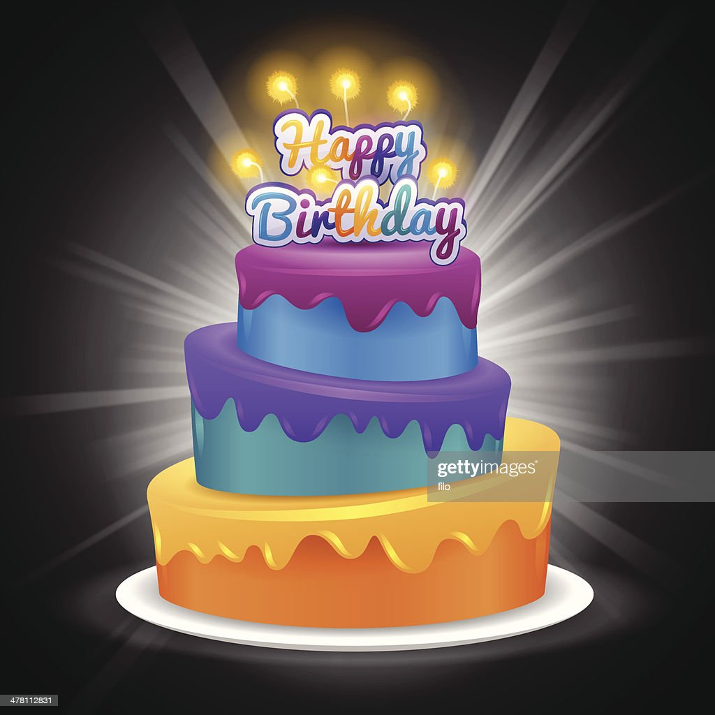 Happy Birthday Cake Vector Art Getty Images