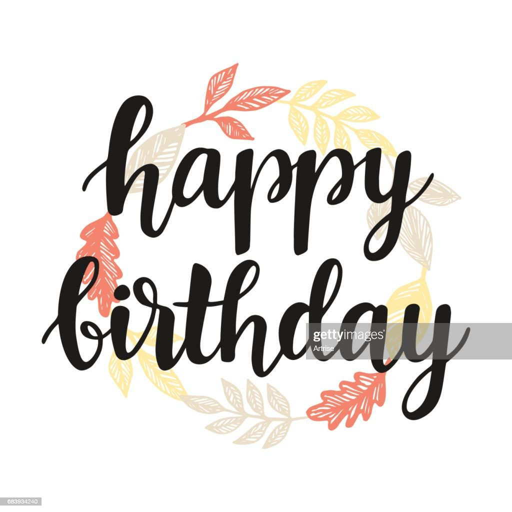 Happy Birthday Greeting Card Design Template Vector Art Getty Images