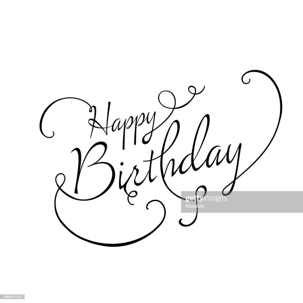 Happy Birthday Greeting Card Design Stock Illustration