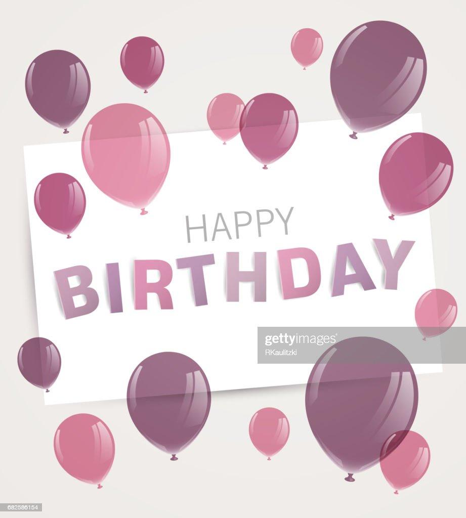 Happy Birthday Greeting Card Design Vektorgrafik