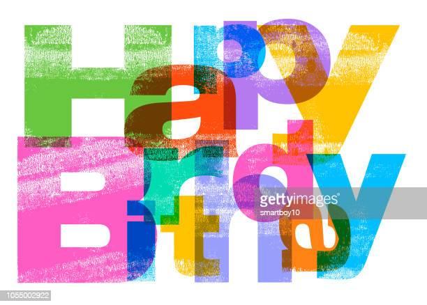 illustrations, cliparts, dessins animés et icônes de voeux de joyeux anniversaire - birthday
