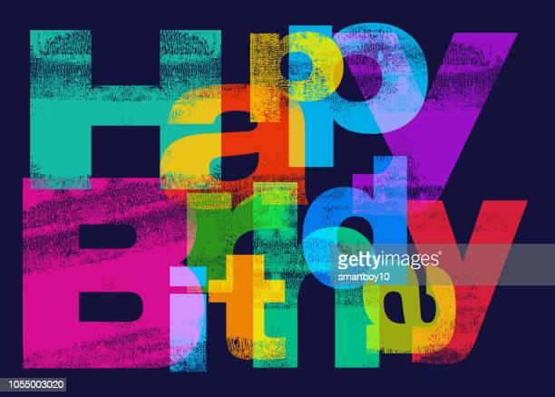 happy birthday greeting - birthday card stock illustrations