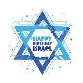 Happy Birthday Israel. Lettering
