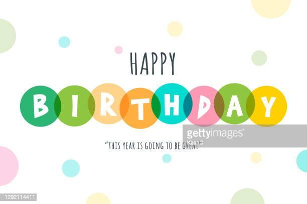 happy birthday lettering stock illustration - birthday stock illustrations