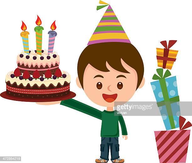 illustrations, cliparts, dessins animés et icônes de happy birthday party - anniversaire enfant