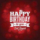 happy birthday sign design background