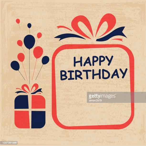 ilustrações, clipart, desenhos animados e ícones de feliz aniversário para você design cartão de saudação - aniversário