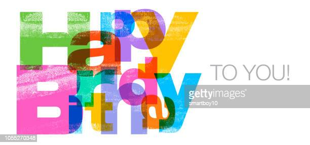 happy birthday to you greeting - birthday card stock illustrations