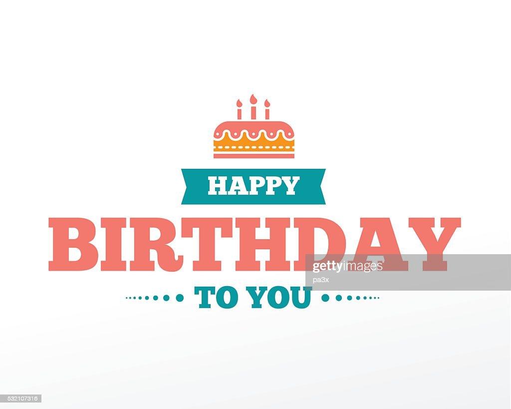Happy Birthday typographic set. Vector design