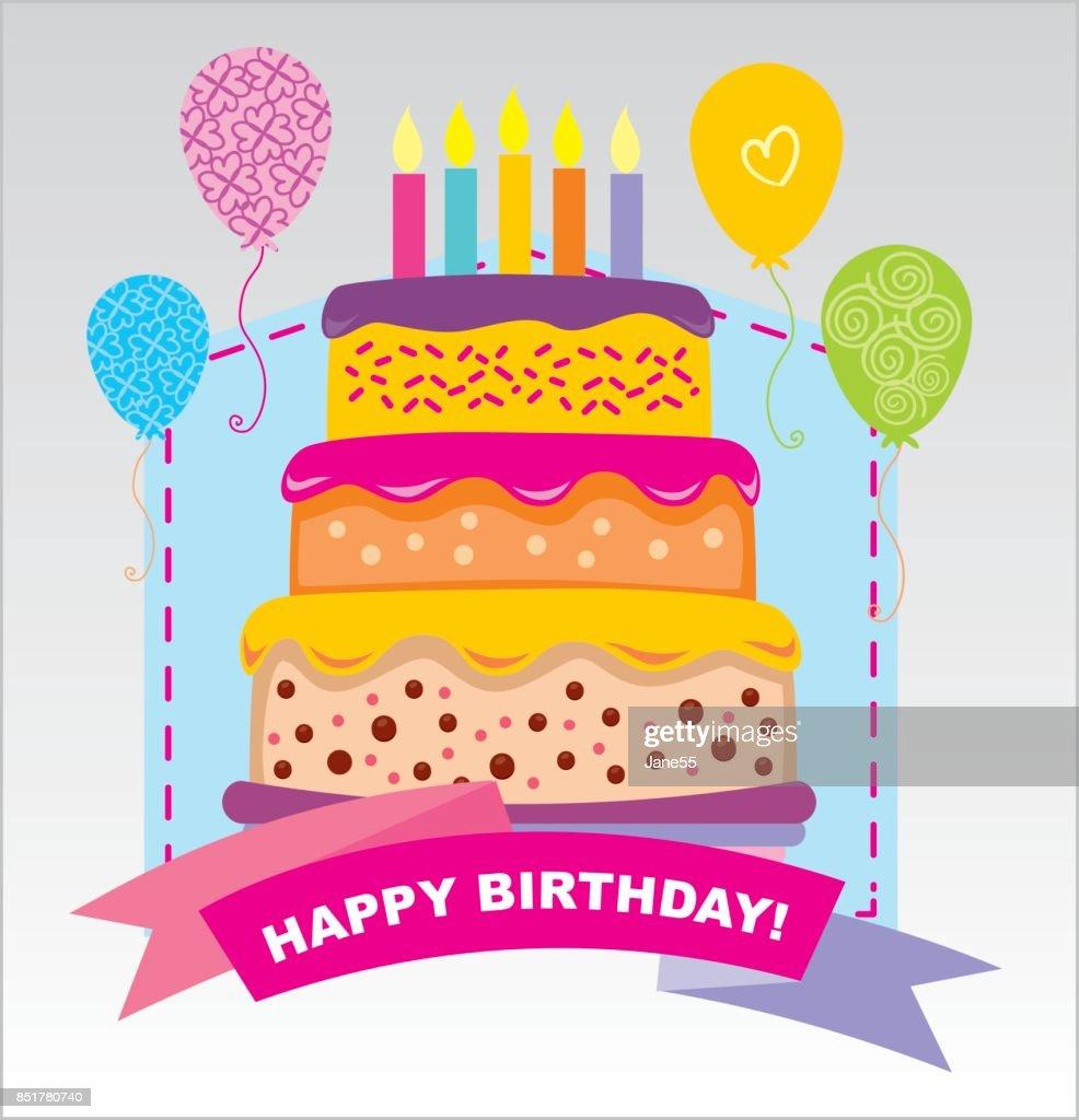 Happy birthday vector card hand drawn vector illustration invitation happy birthday vector card hand drawn vector illustration invitation template design vector stopboris Gallery