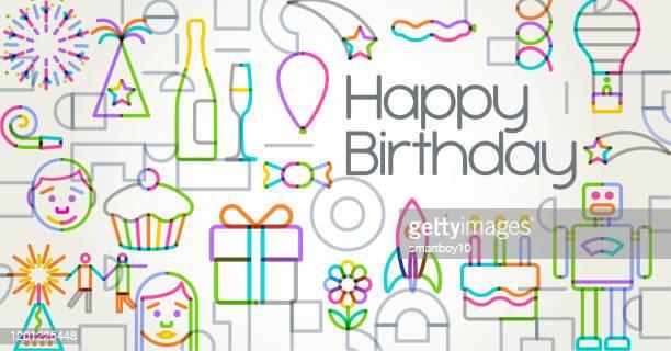 お誕生日おめでとう - 30歳の誕生日点のイラスト素材/クリップアート素材/マンガ素材/アイコン素材