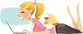 Happy Blogger (Blonde)