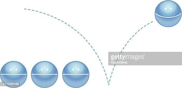 ilustraciones, imágenes clip art, dibujos animados e iconos de stock de feliz saltando de bola - rebote