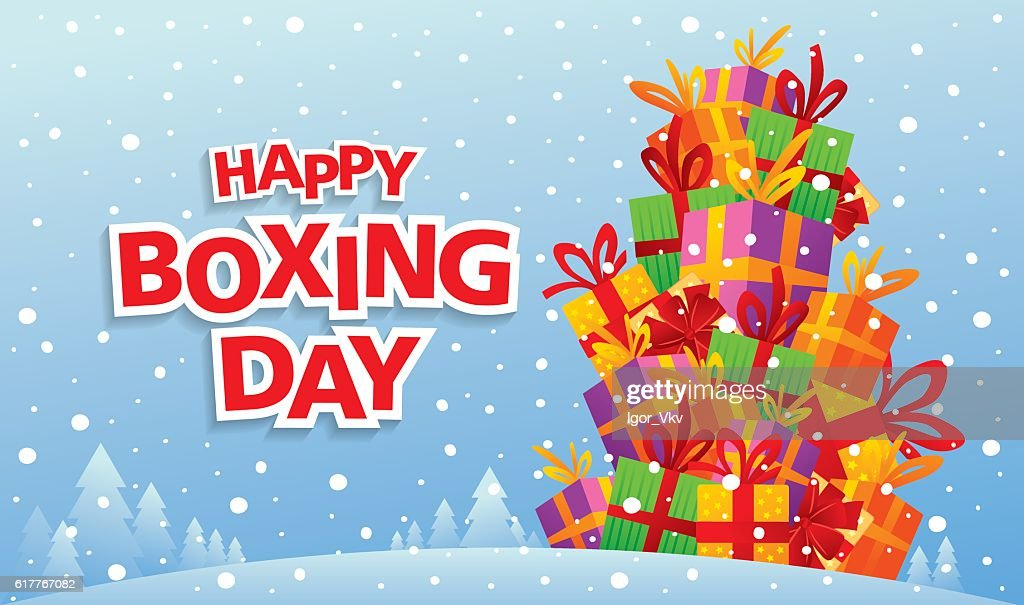 Happy Boxing Day. Greeting card