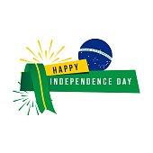 Happy Brazil Independent Day Vector Template Design Illustration
