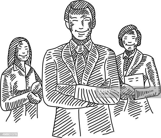 幸せなビジネス人々の描出