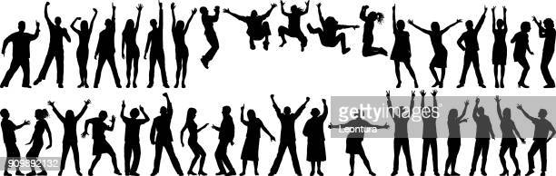 happy business people - dancing stock illustrations, clip art, cartoons, & icons