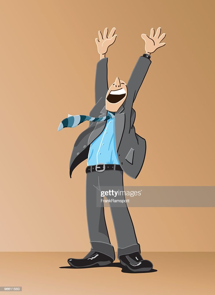 Happy Businessman Cartoon : stock illustration