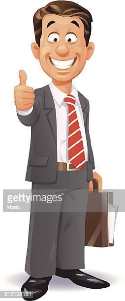 happy businessman - full length stock illustrations, clip art, cartoons, & icons
