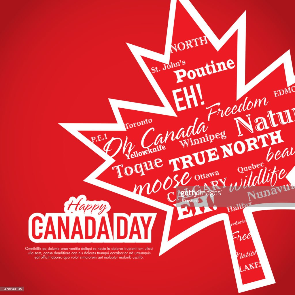 Happy Canada Day Celebration Greeting Card Design Template