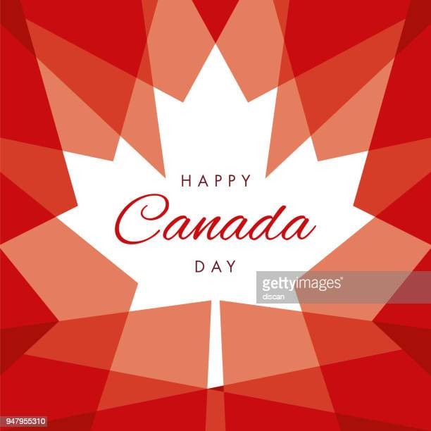 happy canada day greeting card - canada day stock illustrations