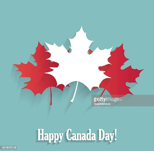 happy canada day poster blue poster - canada day stock illustrations