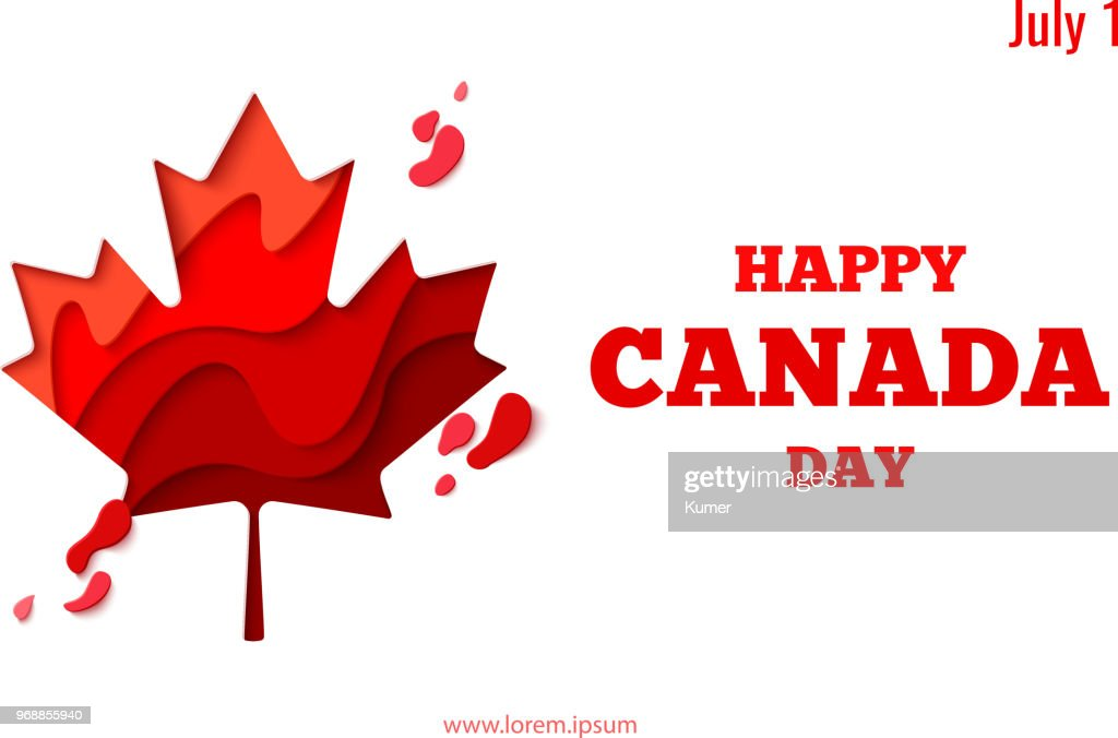 Happy Canada Day vector holiday poster