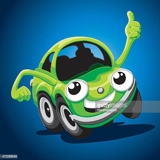 Glücklich Cartoon Auto Daumen hoch
