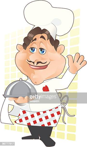 Cuisine Clipart of a Happy Chef Presenting by yayayoyo - #15858