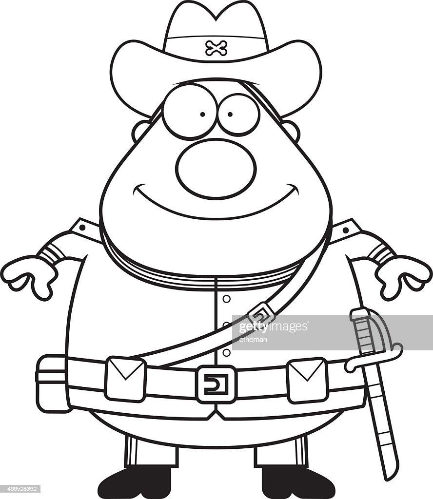 Happy Cartoon Confederate Soldier