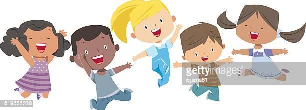 Happy Cartoon Kids